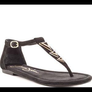 Jessica Simpson t strap Sandals Black Range 6.5